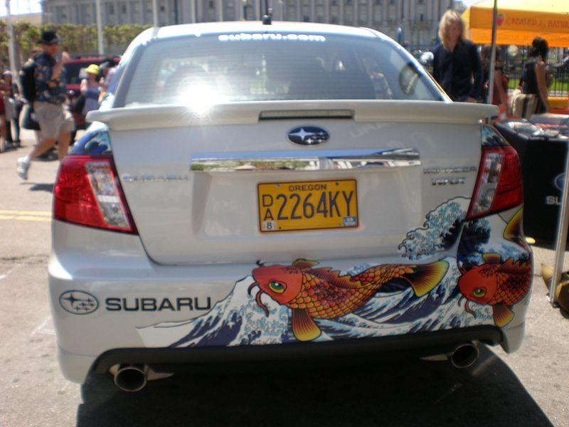 File:2009 white Subaru Impreza WRX rear.JPG
