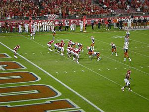 2010 Houston Cougars football team - Houston's offense gets ready to start a drive from their end zone against UTEP