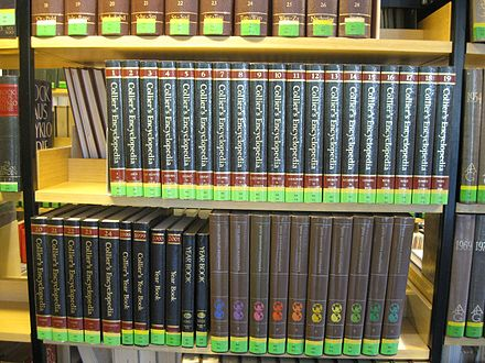 The encyclopedia in a German library, 2011 2011-07 Colllier s encyclopedia in librabry.jpg