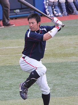 20120501 Yuuhei Takai, outfielder of the Tokyo Yakult Swallows, at Yokohama Stadium.JPG