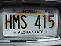 2012 Hawaii license plate - HMS 415.jpg