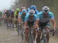 2012 Paris-Roubaix, Peloton on Cobbles (7057784375).jpg