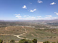 "2014-06-13 12 21 03 View west-northwest from the summit of ""E"" Mountain in the Elko Hills of Nevada.JPG"