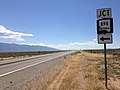 2014-08-09 11 39 38 View south along U.S. Route 93 about 23.2 miles north of the Lincoln County line near the junction with Nevada State Route 894 (Shoshone Road) in White Pine County, Nevada.JPG