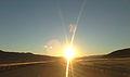 2014-10-28 08 10 57 View east during sunrise along Interstate 80 near milepost 62 in Tooele County, Utah.JPG