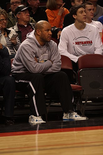 Rick Brunson - Brunson watching the 2014 IHSA tournament at the Peoria Civic Center