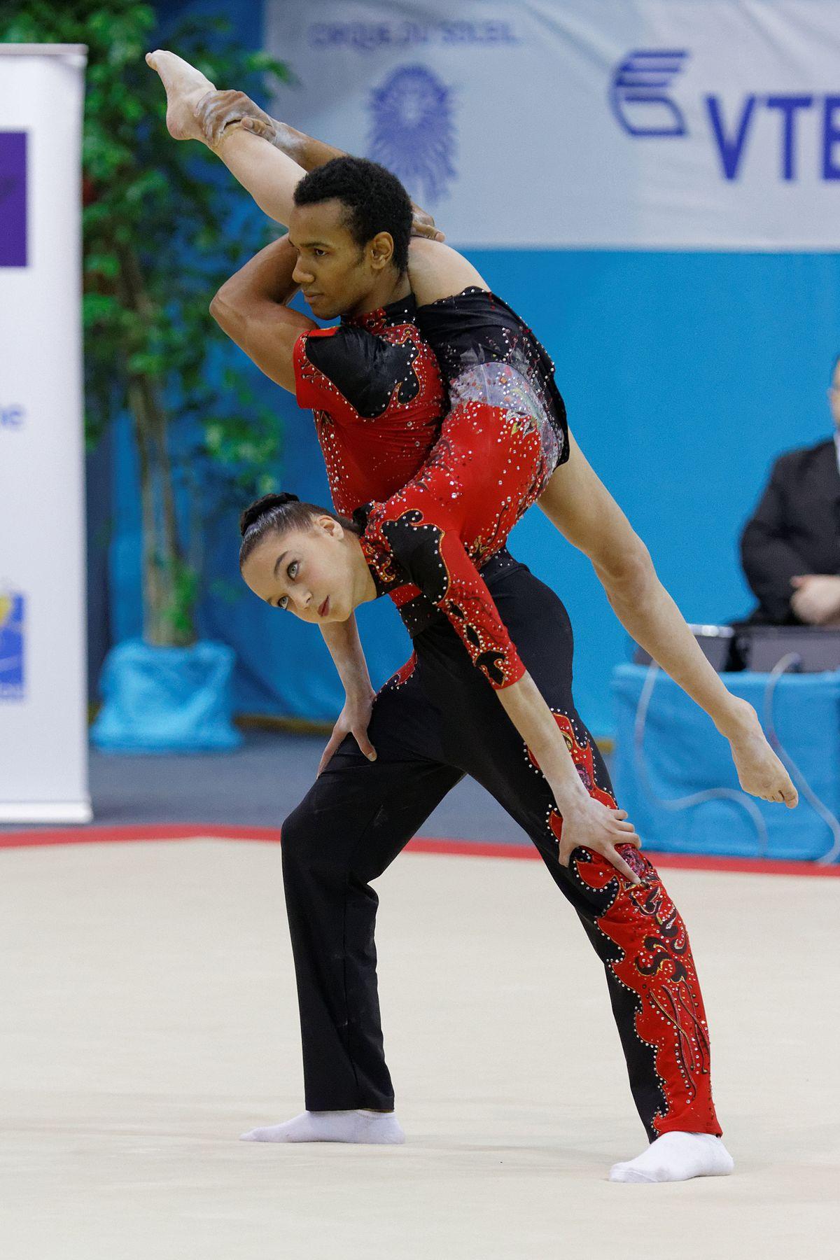 Mariana Gradim Alves Amorim - Wikipedia Acrobatic Gymnastics Mixed Pair