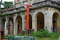 2014 giu Villa Pellegrini Marioni Pullè, Chievo, Verona, photo Paolo Villa facade, Doric - Tuscan order, porch, pilaster strip, door, window, corbel, balcony FOTO6315BIS.JPG