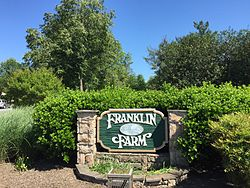 Sign at the west entrance to Franklin Farm, Virginia