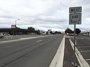 Nevada State Route 648 - View at the east end of SR 648 looking westbound