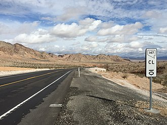 Nevada State Route 147 - View eastbound along SR 147 at milepost 10