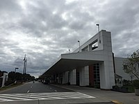 2016-10-05 14 52 41 Front of the terminal at the Charlottesville–Albemarle Airport in Rivanna, Albemarle County, Virginia.jpg