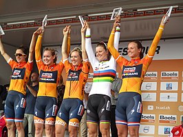 De ploeg in de Boels Ladies Tour 2017