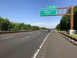 Aberdeen Township, New Jersey - The Garden State Parkway in Aberdeen Township