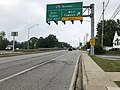 2019-08-15 09 43 27 View south along U.S. Route 1 (Belair Road) at the exit for Interstate 695 WEST (Towson) in Overlea, Baltimore County, Maryland.jpg