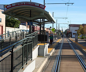 25th & Welton station - The light rail station at 25th and Welton streets in Denver, Colorado