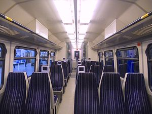 British Rail Class 323 - The interior of a Northern Rail refurbished Class 323