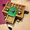 4093 NAND Synth - parts layout, Battery Powered Orchestra Workshop.jpg