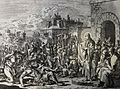 439 Life of Christ Phillip Medhurst Collection 4234 Christ healeth deceased (sic) persons Mark 1.32-34 Luyken.jpg