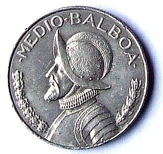 Panamanian balboa - Image: 50 centavos de balboa