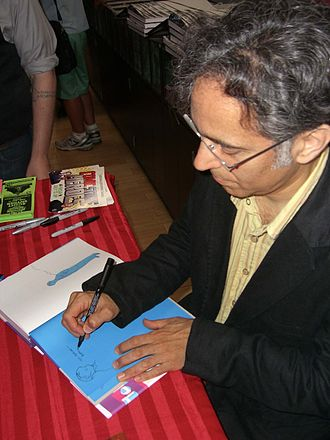 Asterios Polyp - Mazzucchelli sketching the titular character in a fan's copy of the book at a June 2012 signing at Midtown Comics in Manhattan.