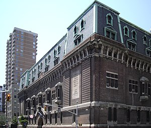 Richard Howland Hunt - The 69th Regiment Armory in Manhattan, completed in 1906
