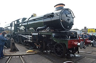 Tyseley Locomotive Works - Image: 7029 Clun Castle on the turntable at Tyseley LW
