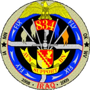 834th Aviation Support Battalion - 834th ASB Iraq deployment patch