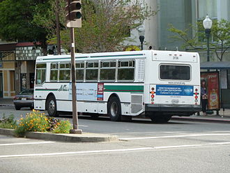 AC Transit Bus fight - The incident took place aboard an AC Transit bus similar to this one.