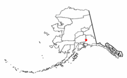 Location of Mendeltna, Alaska