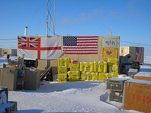 HMS Tireless (S88) - Flags from the APLIS Camp