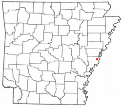 Location of West Helena, Arkansas