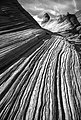 AZ - The Wave, Paria Canyon Wilderness, Mar 1987 -BW (18) (10469035215).jpg