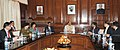 A Bangladesh delegation led by the Senior Secretary, Ministry of Home Affairs, Dr. Md. Mozammel Haque Khan calling on the Union Home Minister, Shri Rajnath Singh, in New Delhi. The Union Home Secretary.jpg