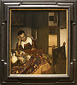 A Maid Asleep - Painting of Vermeer, with frame.jpg