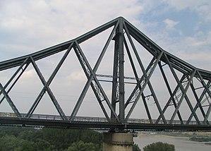 Anghel Saligny Bridge - Image: A Pillar of the Anghel Saligny Bridge