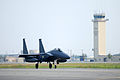 A South Korean F-15K Slam Eagle aircraft taxis down the runway during Red Flag-Alaska 13-3 at Eielson Air Force Base, Alaska, Aug. 13, 2013 130813-F-UP786-225.jpg