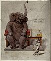 A dog weighing an elephant Wellcome V0050701.jpg