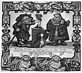 A dwarf alchemist and his assistant standing by a crucible. Wellcome L0004341.jpg