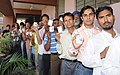 A large number of voters in a queue to cast their vote at a polling booth Davesamaj College for Women, during the 5th and final Phase of General Election-2009, in Chandigarh on May 13, 2009 (1).jpg