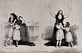 A scene from a play is being enacted where a mother embraces Wellcome V0038770.jpg