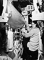 A seaman operates the torpedo firing controls in the Polish submarine SOKOL (FALCON), 31 March 1944. A22606.jpg