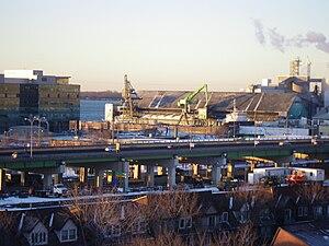A ship moored at the Redpath sugar refinery -b.jpg