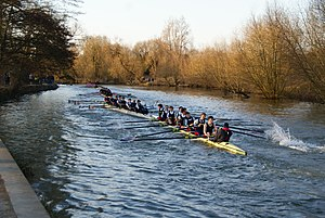 Balliol College Boat Club - Balliol College bumping St Catherine's College at Torpids in 2010.