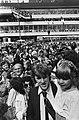 Aankomst Nederlands elftal op Schiphol spelers banen zich weg door menigte, voo, Bestanddeelnr 929-7928.jpg