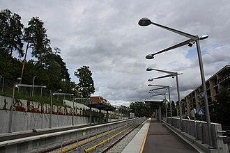 Åsjordet (station) - Image: Aasjordet T bane 09 01