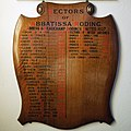 Abbess Roding - St Edmund's Church - Essex England - incumbents list board.jpg