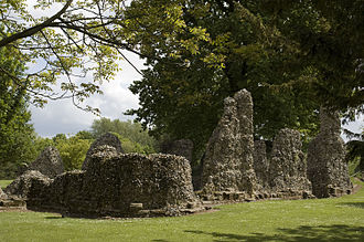 Thomas of Brotherton, 1st Earl of Norfolk - Ruins of the Abbey of Bury St Edmunds where Thomas of Brotherton was buried