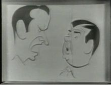 Caricature Of The Pair From NBC TVs Colgate Comedy Hour
