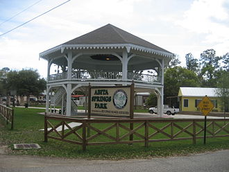 Abita Springs, Louisiana - The pavilion building was originally constructed for the World Cotton Centennial 1884 Worlds Fair in New Orleans